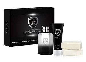 Kit Lamborghini Aventador - Perfume 100ml + Gel Banho 100ml + 02 Sabonetes 100g