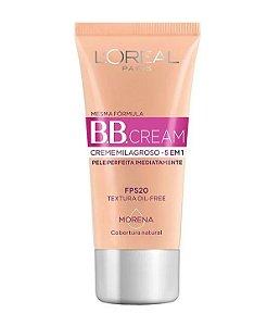 BB Cream L'oréal Creme Milagroso 5 em 1 FPS20 Cor Morena 30ml