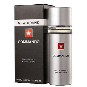 Commando Eau de Toilette New Brand 100ml - Perfume Masculino