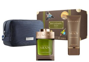 Kit Bvlgari Man Wood Essence Eau de Parfum 100ml + Pós Barba 100ml + Nécessaire - Masculino