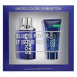 Kit Colors Man Blue Benetton Eau de Toilette 100ml + Pós Barba 75ml - Masculino