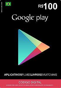 Cartão Google Play Brasil R$100