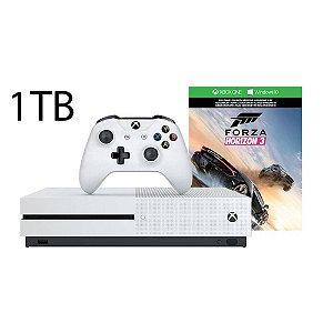 Console Xbox One S 1 Tera Bytes 1TB + Controle One S Branco com Jogo Forza Horizon 3 - Microsoft