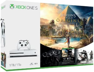 Console Xbox One S 500gb 4k Bivolt+assassin's Creed Origins