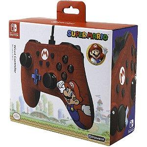 Controle Com Fio Para Nintendo Switch Edição Especial Mario