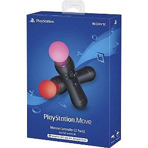 Controle Sony Playstation Move Two Pack Ps4 - Kit Com 2 Controles De Movimento