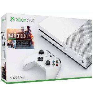 Console Xbox One S 500GB Bundle Jogo Battlefield 1