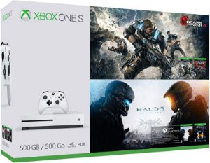 Console Xbox One S 500gb Bundle Gears Of War E Halo 5