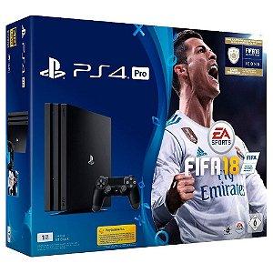 Sony Playstation 4 Ps4 Pro 7016 Bundle Fifa 18 4k Bivolt