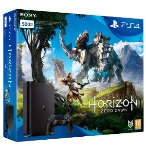 Console Sony PlayStation 4 Slim 500Gb + Controle + Jogo Horizon Zero Dawn