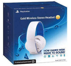 Headset Gamer Gold 7.1 Wireless Sony Branco Para Playstation Ps4 Ps3 Ps Vita