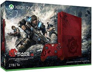 Console Microsoft Xbox One S 2TB + Pacote Gears Of War 4 Vermelho