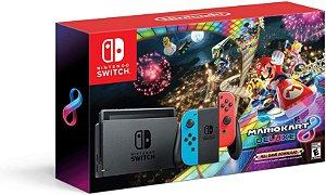 Console Nitendo Switch Colorido Neon + Mario Kart 8 Deluxe