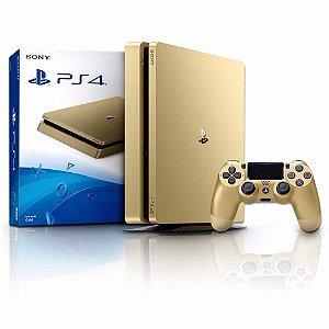 Console Playstation 4 Slim Sony 1TB Gold Edition