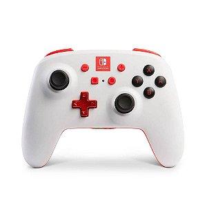 Controle Pro Sem Fio Para Nintendo Switch Enhanced Wireless Branco  Vermelho - Power A