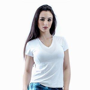 Blusa Dry Fit Manga Curta - Branco