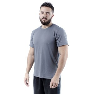 Camiseta Masculina Dry Fit - Cinza