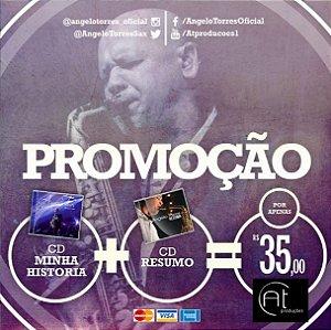 CD Minha História (Duplo) + CD Resumo (Coletânea) - FRETE INCLUSO