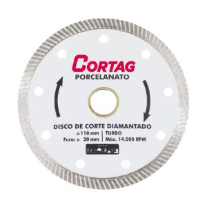 Disco Fino Diamantado Turbo Porcelanato 110mm - Cortag