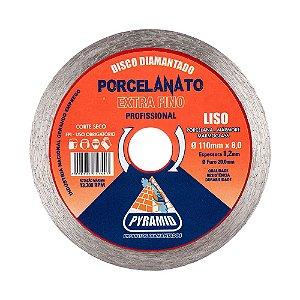 Disco Diamantado Liso Continuo Extra Fino Porcelanato  (110mm)