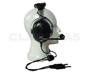Fone Headset para Avião Piloto profissional ou aluno da Aviação Geral Dual Plug