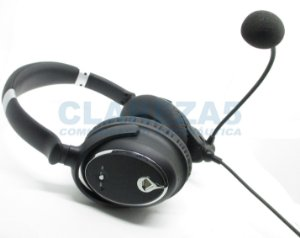 Fone Headset para Piloto da Aviação Geral similar ao A20 Cancelling ANR compatível com aviões de entrada dual plug