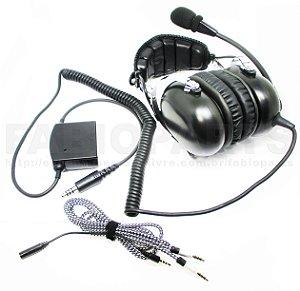 Fone Headset para helicóptero ANR profissional com cancelling redutor ruídos eletrônico piloto PCH PPH