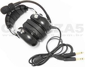 Fone Headset de avião com abafadores GEL, ideal para piloto da aviação geral, passageiro ou aluno