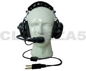 Fone headset avião para piloto profissional ou aluno de aviação PP PC PLA INVA