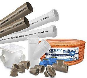 Tubos e Conexões PVC (Soldável, Roscável, Esgoto SN e Esgoto SR)