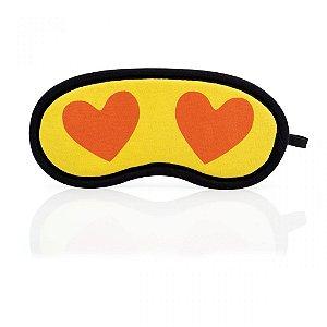 Máscara de Dormir Emoji Apaixonado