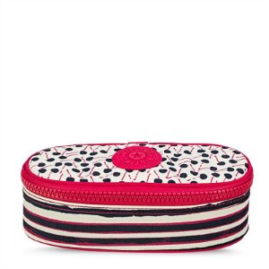 Estojo Kipling Duobox Cherry Stripe