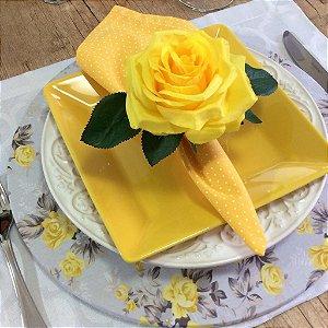 Capa de Sousplat Floral Fundo Cinza