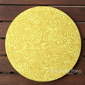 Capa de Sousplat Paisly Amarelo