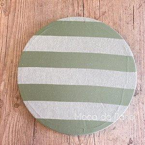 Capa de Sousplat Adamascado Verde