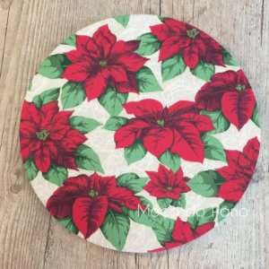 Capa de Sousplat Natal Floral Grande