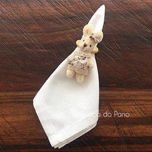 Porta Guardanapo Coelha Vestido Rosa