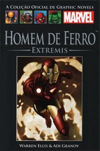 Homem de Ferro - Extremis - Graphic Novel Salvat - LACRADA + Adesivo Exclusivo