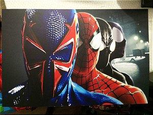 Homens Aranhas - Quadro em PVC 60x40cm