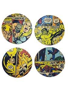 Porta Copos - Classic Marvel Comics - 4 Unid.