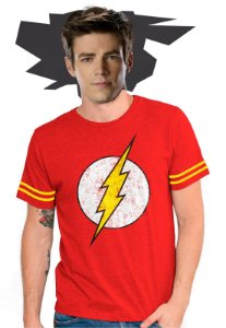 Camiseta Masculina Athletic The Flash Logo - PRODUTO OFICIAL DC COMICS