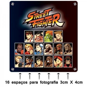 Porta Retrato 3x4 Select Player Street Fighter