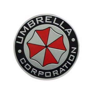 Umbrella Corporation Resident Evil - Emblema 3D em alumínio