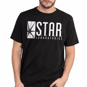 Camiseta Masculina The Flash Serie STAR Laboratories