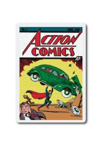 ACTION COMICS 1 - SUPERMAN - PLACA DECORATIVA EM MDF