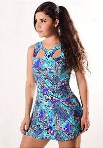 Vestido Estampado - Coleção Rubi