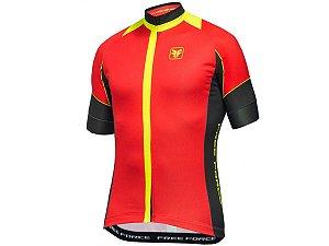 Camisa Ciclismo Free Force Throne Vermelha