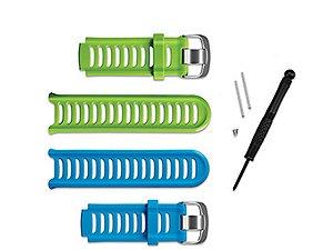 Pulseira Garmin Forerunner 910xt Kit Azul Verde Original