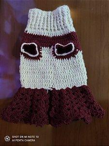 Vestido Pet de Crochê (M)