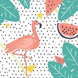 Porta Copos Flamingos - Kit com 4 unidades